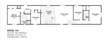3 bed 2 bath mobile home for floor plans 4 bedroom google search bahce