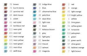 Staedtler Colored Pencils 48 Color Chart Staedtler 334 Triplus 48 Colors Fineliner Pen Stationery 0 3