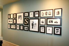 pretentious design wall photo frames decoration ideas picture frame arrangements decor with plus yellow colored around tv