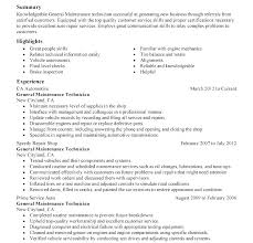 Resume For Auto Mechanic Amazing Automotive Technician Resume Objective Auto Mechanic Resume