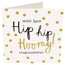 Caroline Gardner Hip Hooray Congratulations Card From Ocado