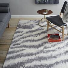diffused zebra printed wool rug west elm west elm outdoor rug