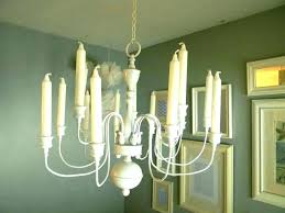 faux candle chandelier pillar lighting