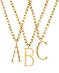 lulu frostplaza letter necklace