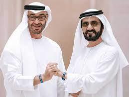 محمد بن راشد ومحمد بن زايد والحكام يهنئون محمد بن سلطان بن خليفة بزفافه