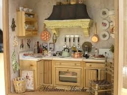 Miniature Dollhouse Kitchen Furniture Miniature Dollhouse Kitchen Roombox Old Style Fully