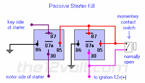 starter interrupt relay diagrams passive starter kill relay diagram