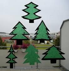 Nikolaus Und Tannenbäume Aus Transparentpapier Fürs Fenster