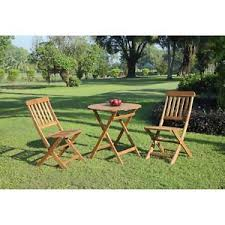 teak bistro table and chairs. Image Is Loading 3-Piece-Outdoor-Bistro-Set-Patio-Table-Chairs- Teak Bistro Table And Chairs