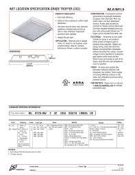 Troffer Light Spacing Wet Location Specification Grade Troffer 2x2 Wla