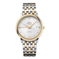 omega de ville prestige 39 5mm silver blue dial leather strap watch omega de ville prestige 36 8mm steel yellow gold silver dial automatic men s bracelet watch