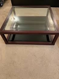 glass wood coffee table 2 available