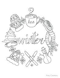 Crayola Winter Coloring Pages At Getdrawingscom Free For Personal