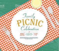 Picnic Template Download Picnic Invitation Design Template Green Background Stock