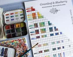 Small Picture PRINTABLE Greenleaf Blueberry Blank Color Mixing Chart