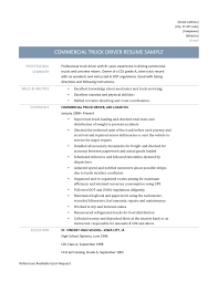 truck driving resumes commercial truck driver resume template 2017 online resume