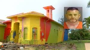 Florida man's $500K home turned into multicolored mess - ABC7 San Francisco