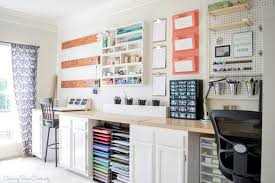home office craft room ideas. Perfect Craft A Organized Craft Room For Scrap Booking With A Long Counter And Lots Of  Storage Intended Home Office Craft Room Ideas