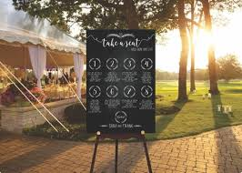 Diy Digital Wedding Seating Chart Sign Sit Back And Relax