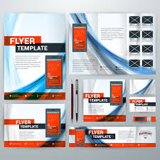 Electronic Brochure Template Electronic Product Flyer Template Vector 04 Free Download
