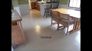 Floor Linoleum For Kitchens Painted Vinyl Floor Youtube