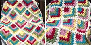 Granny Square Blanket Pattern Fascinating Free Granny Square Baby Blanket Patterns Craftsy