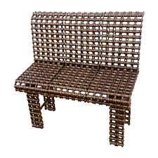 custom made chain art furniture metal bench industrial art