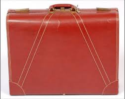 vintage luggage. 1940\u0027s masterbilt top grain cowhide leather luggage with key vintage u