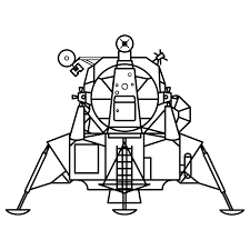 Moon rover coloring page