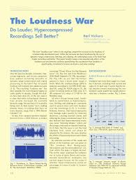 Bob Katz Frequency Chart The Loudness War Audio Engineering Society