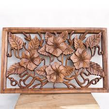 Small Picture OMKARA Balinese wood panel hand carved for wall decoration Bali