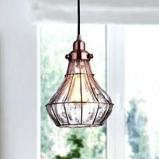 ceiling lights copper ceiling light vintage ed glass wire cage pendant red antique