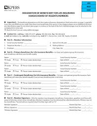 Insurance Designations Designation Of Beneficiary For Life Insurance