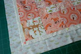 Cute Quilt for a little boy, including Self-binding Tutorial ... & Quilt top with batting and backing fabric Adamdwight.com