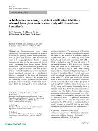 Pdf A Bioluminescence Assay To Detect Nitrification Inhibitors