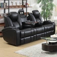 Leather Reclining Living Room Sets Delange Power Reclining Living Room Set From Coaster 601741p