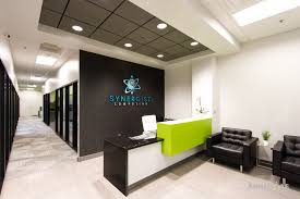 office reception areas. Office Reception Area With Texture Wall, Custom Desk, And Green Accent. Areas I