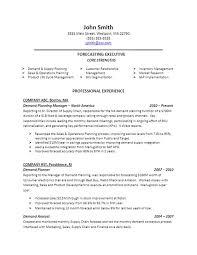 Best Demand Planner Resume Sample Gallery - Simple resume Office .