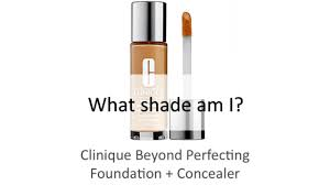 Clinique Skin Types Chart Find Your Shade Clinique Beyond Perfecting Foundation Concealer