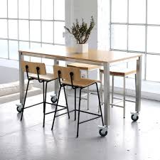 Chromcraft Furniture Kitchen Chair With Wheels Kitchen Dining Sets With Casters Chadhaus Farmhouse Modern Table