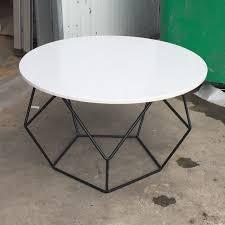 modern metal leg granite top small round coffee table