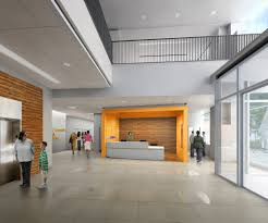Interior:Modern Orange Loby Interior Design With White Wall Color Idea  Modern Lobby Interior Design