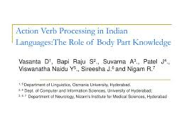 Action Verbs Impressive PPT Action Verb Processing In Indian LanguagesThe Role Of Body