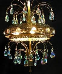 to expand vintage large crystal waterfall fountain tear drop blue prism light chandelier