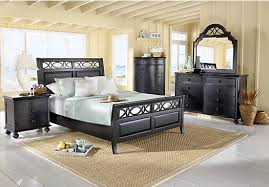 seaside bedroom furniture. Picture Of Cindy Crawford Home Seaside Black 5 Pc Queen Sleigh Bedroom From Sets Furniture H