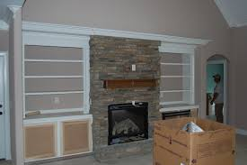Built In With Fireplace Stone Fireplace With Built Ins