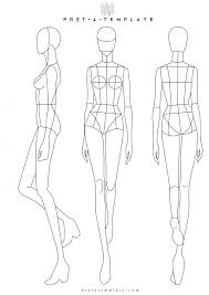 Body Template For Designing Clothes Woman Body Figure Fashion Template D I Y Your Own Fashion