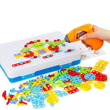 Educational Toy Design Us 22 61 31 Off Kids Drill Toys Creative Educational Toy Electric Drill Screws Puzzle Assembled Mosaic Design Building Toys Boy Pretend Play Toy In