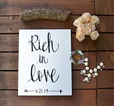 rich in love\u201d wedding date canvas Wedding Date On Canvas wedding anniversary canvas painting wedding date canvas