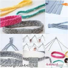 5 strand braid headband from old tshirts f